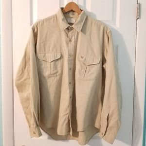 Vintage 1970's CHRISTIAN DIOR Tan Shirt Size XL